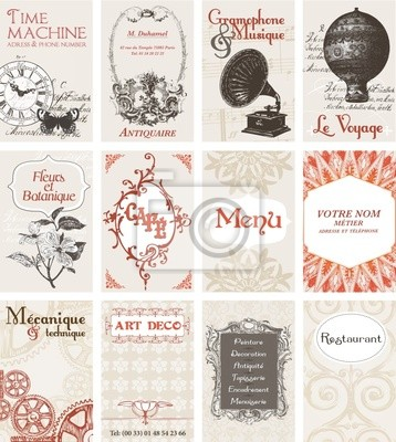 Image 12 Cartes De Visites Esprit Retro