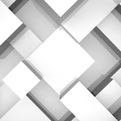 Image 3D, blocs, structure, fond. Illustration vectorielle.