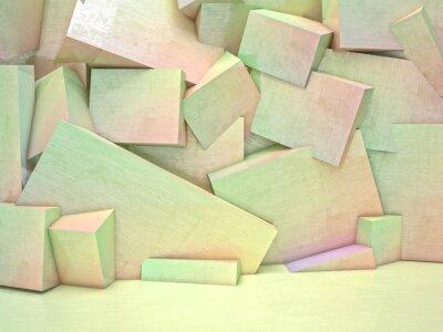 Image 3D, géométrique, mur