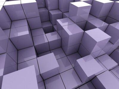 Image 3d illustration de cubes violets