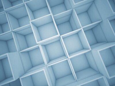 Image 3D, résumé, cube, fond