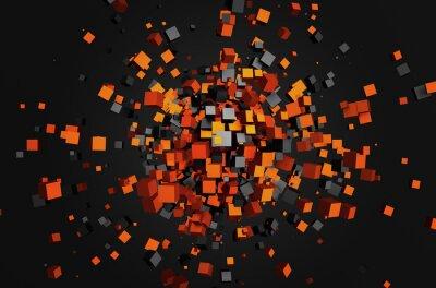 Image Abstract 3d rendu des cubes volants.