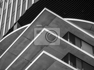 Image Abstract background architecture lines. modern architecture detail