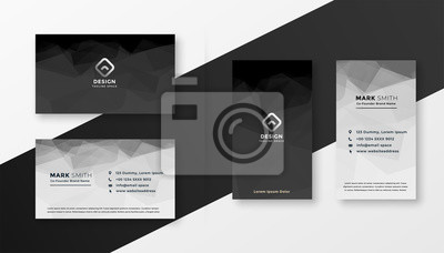 Image abstract black and white business card template