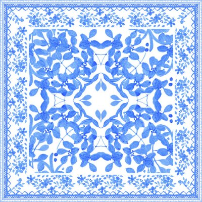 Image Abstract seamless pattern tradition de l'aquarelle