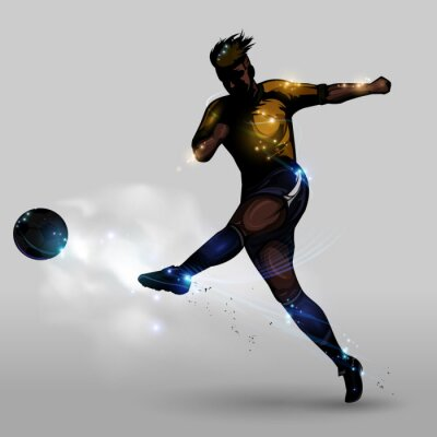 Image Abstract soccer power shooting