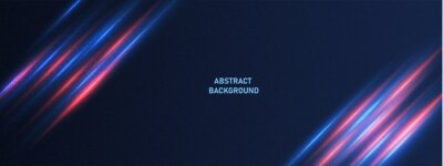 Image Abstract technology background with motion neon light effect.Vector illustration.