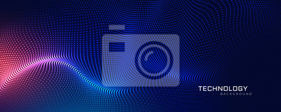 Image abstract technology particles mesh background