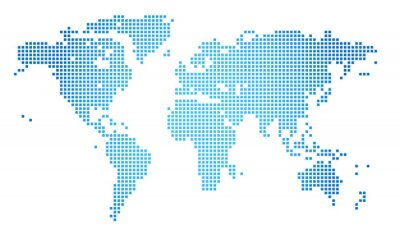 Image Abstract vector illustration of a dotted worldmap