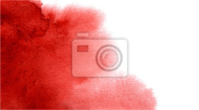 Image Abstract watercolor red background for your design.