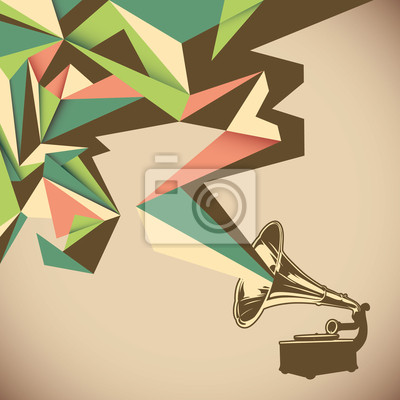Image Abstraction angulaire avec le vieux gramophone.