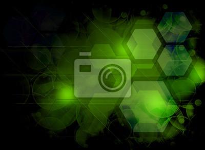 abstraction géométrique vert, fond