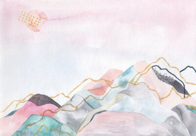 Image Abstrait aquarelle.