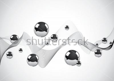 Image Abstrait de boules de métal