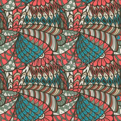 Image Abstrait modèle sans couture dans le style de doodle. Illustration vectorielle