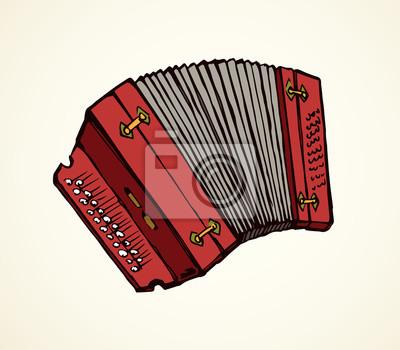 Dessin Accordéon accordéon. dessin vectoriel peintures murales • tableaux harmonica