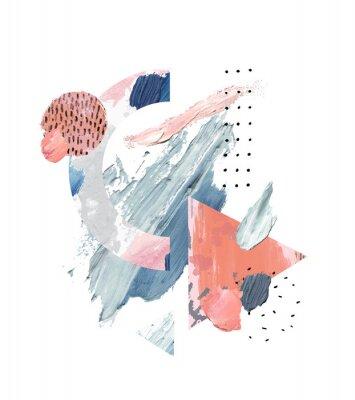 Image Acrylic, oil paint rough smears, blots, texture, watercolor art