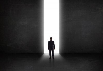 Image Affaires, personne, regarder, mur, lumière, tunnel, ouverture