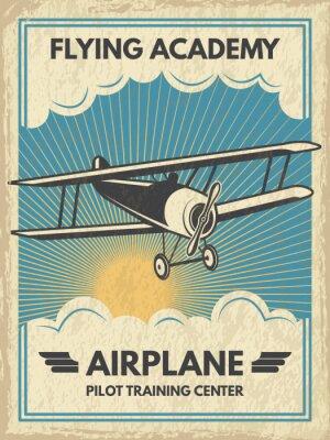 Image Affiche de l'aircaft vintage. Illustration vectorielle