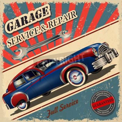 Image Affiche rétro de garage Vintage