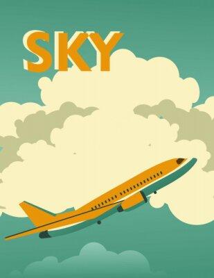 Image Affiche vintage de ciel
