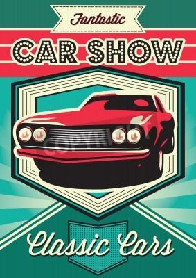 Image Affiche vintage pour l'exposition de voitures