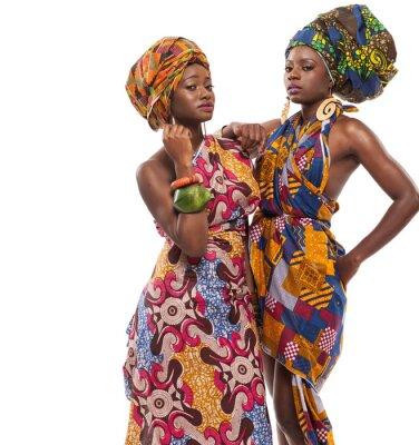 Image African female models posing in dresses.