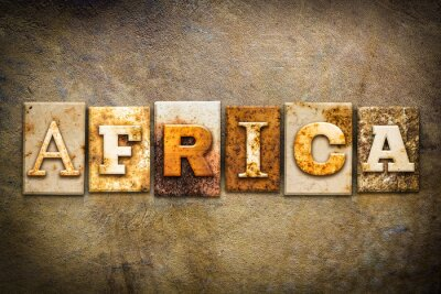 Image Afrique Concept Typographie cuir Thème