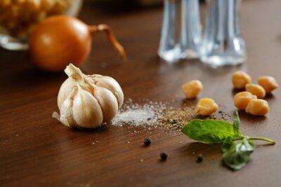 Image Ail, sel, poivre et oignon