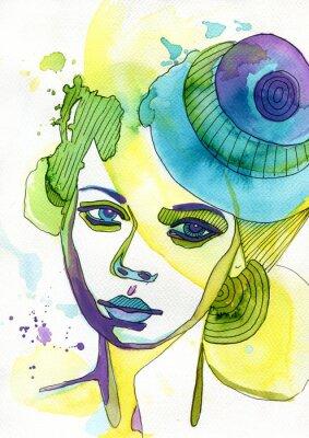 Image Akwarelowy portret kobiety