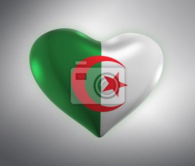 Algerie Drapeau algérie, drapeau algérien (3d render) peintures murales • tableaux