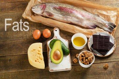 Image Aliments riches en graisses qui sont en bonne santé