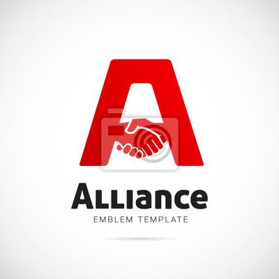 Alliance vector concept symbole icône ou logo template peintures ... 6b29c9977cbc
