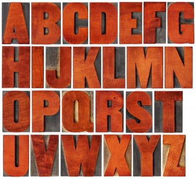 Image Alphabet, ensemble, letterpress, bois, type