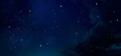 Amazing Night Sky With Strars - Deep Space