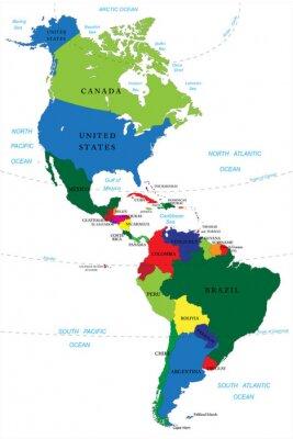 Image Amérique du Nord et du Sud carte
