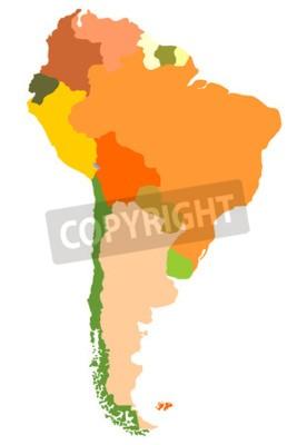 Image Amérique du Sud- carte détaillée