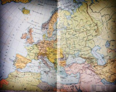 Image ancien XIX siècle géographique Mapbook ouvert