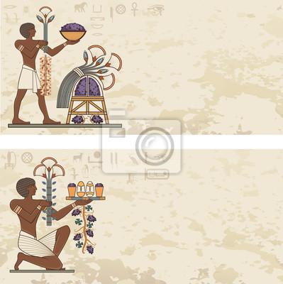 Image Ancienne Bannière Degypte Egypte Hiéroglyphe Et Symbole Arrière Plan