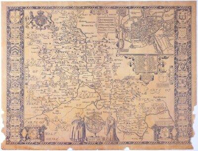 Image Ancienne carte Oxfordshire