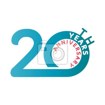 Image Anniversaire 20 Ans Danniversaire Logo Du Modèle