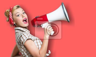 Image Annonce d'un amplificateur de publicité de fond d'attention de mégaphone