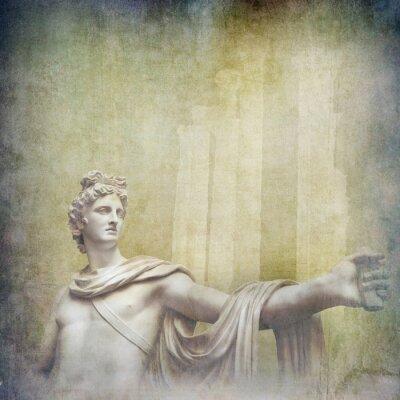 Image Antique, hellenistic, sculptures, grunge, fond