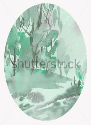 Image aquarelle de paysage