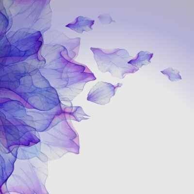 Image Aquarelle motifs floraux ronds.