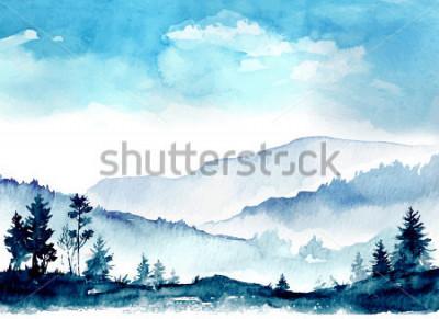 Image Aquarelles des montagnes