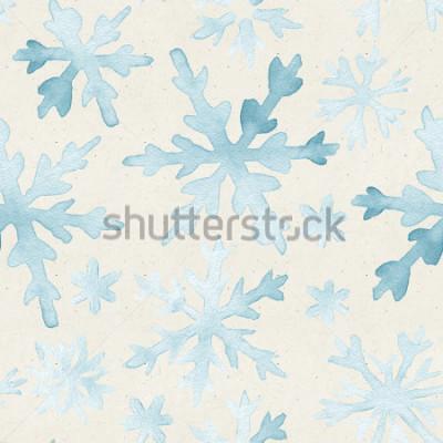 Image Aquarelles transparentes sur la texture du papier. Fond de Noël