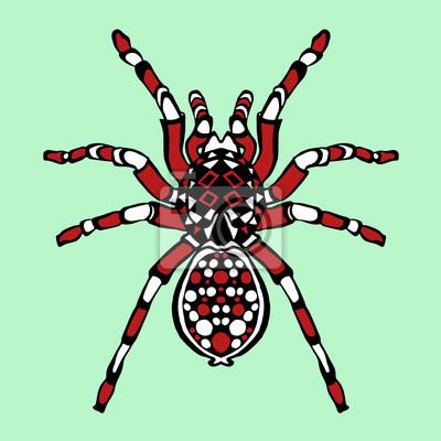 Araignée stylisée zentangle. esquisse pour tatouage ou t-shirt ...