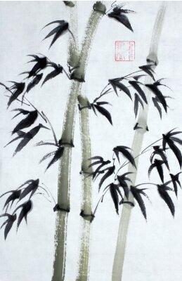 Image Arbres en bambou brillants