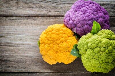 Image Arc-en-ciel, eco, chou-fleur, bois, table